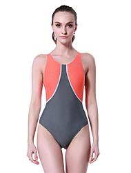 baratos -Mulheres Roupas de Banho Esportivas Elástico Compressão Tactel Elastano Maiô Roupa de Banho Natação Mergulho