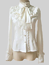 cheap -Classic Lolita Dress Lolita 1950s Chiffon Women's Blouse/Shirt Cosplay White Lolita Long Sleeves Lolita