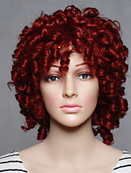 Fashion Synthetic Wigs Red Color Curly Style Top Quality Wig