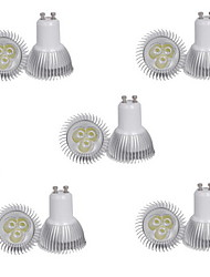 cheap -10pcs 3 W 250 lm GU10 LED Spotlight 3 LED Beads High Power LED Decorative Warm White / Cold White 85-265 V / 10 pcs / RoHS