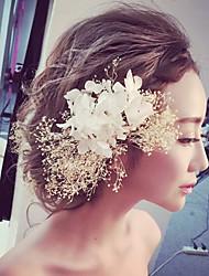 stof blomster hovedstykke bryllupsfesten elegant klassisk feminin stil