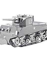 cheap -Jigsaw Puzzles 3D Puzzles / Metal Puzzles Building Blocks DIY Toys Tank Metal Silver Model & Building Toy