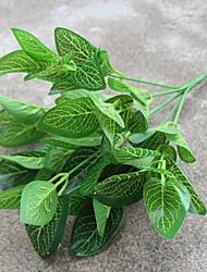 abordables -1 Une succursale Soie Plantes Arbre de Noël Fleurs artificielles