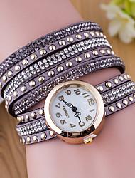 cheap -Velvet Belt Drilling Circle Table Ladies Fashion Rivet Watches