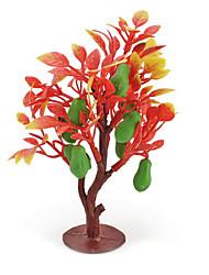 Недорогие -фрукты средний песок стол имитационная модель дерева завод смолы украшения мини садоводство зеленый мясистые фрукты 2pcs