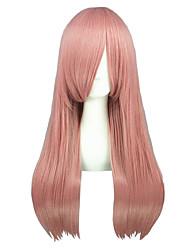 Perruques de Cosplay Reborn! Bisuke Rose Moyen Anime Perruques de Cosplay 60 CM Fibre résistante à la chaleur Masculin / Féminin