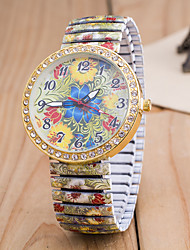 cheap -Women's Quartz Wrist Watch Imitation Diamond Alloy Band Flower Fashion Multi-Colored