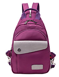 cheap -Women's Bags Nylon School Bag Cover for Casual All Seasons Black Purple Blue