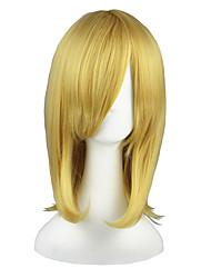 Недорогие -Парики из искусственных волос Прямой Блондинка Искусственные волосы Блондинка Парик 13 см Без шапочки-основы