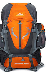 80 L batoh Ruksak Lezení Outdoor a turistika cestování Tepelná izolace Voděodolný Nositelný Protiskluzový povrch Multifunkční Nylon