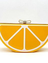 cheap -Women Bags Metal Evening Bag Acrylic Jewels for Event/Party Casual All Seasons Orange