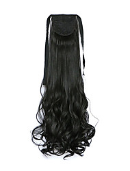 Curly Black Synthetic Long Curly Hair Claw Clip Wig Ponytail