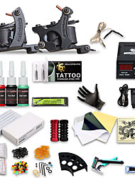 billige -DRAGONHAWK Tattoo Machine Starter Sæt, 2 pcs Tattoo Maskiner med 4 x 5 ml tatoveringsfarver - 2 x støbejern tatoveringsmaskine til