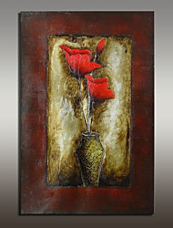 Недорогие -Hang-роспись маслом Ручная роспись - Натюрморт Modern С рамой
