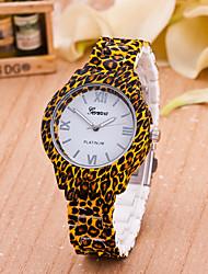 cheap -Women's Fashion Watch Plastic Band Flower / Leopard Brown