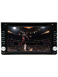 "6.2 ""2DIN LCD touch screen in-dash bil dvd-afspiller med stereo radio, dvd, SD,"