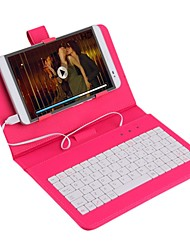 cheap -7 Inch Universal Leather Case Cover with Micro USB Keyboard For Tablet