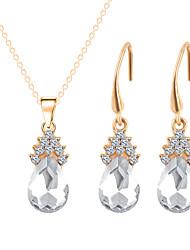 abordables -Mujer Cristal Conjunto de joyas - Cristal, Brillante Vintage, Moda Incluir Collar / pendientes Rojo / Verde / Azul Para Boda / Fiesta / Diario / Pendientes / Collare