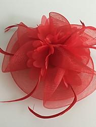 tulle fjer netto fascinators headpiece klassisk feminin stil