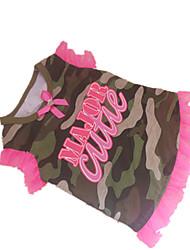 economico -Cane T-shirt Abbigliamento per cani Camouflage colore Costume Per animali domestici