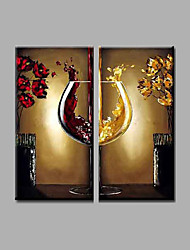 "Stretched (Ready to hang) Hand-Painted Oil Painting 32""x32"" Canvas Wall Art Modern Abstract Dinning Room"