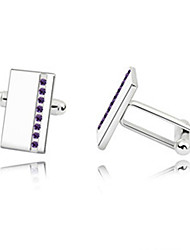 cheap -1 Pair Men's High Quality  Crystal Cufflinks