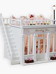 Недорогие -шоколадный поцелуй поделки хижина творческие Валентина подарок ручной работы модель дом
