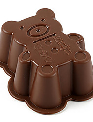 cheap -Random Color 1PCS Bear Shape Silicone Mold for Jelly, Chocolate, Soap Cake Decorating DIY Kitchenware ,Bakeware