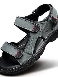Недорогие -Муж. обувь Наппа Leather Весна Лето Удобная обувь для Атлетический Повседневные на открытом воздухе Офис и карьера Для праздника Черный