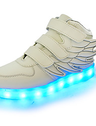 cheap -Boys' Shoes Synthetic Spring Fall Light Up Shoes Sneakers Sparkling Glitter Hook & Loop LED for Athletic Casual Party & Evening Black Red