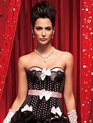 cheap -YUIYE® Women Sexy Lingerie Waist Training Corset Bustier Tops Shapewear Blue Pink Overbust Corset Plus Size S-2XL