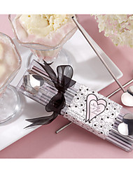 2pcs/box - Heart Straw Stirrers and Ice cream Scoop  Wedding Favors Bridal Shower Favors