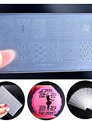 nuova Ingegneria Ambientale-plastica di arte del chiodo piatto di timbratura fai da te Nail Design smalto strumenti template stampa