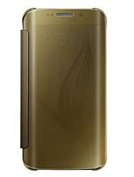 billiga -fodral Till Samsung Galaxy Samsung Galaxy S7 Edge Lucka / Genomskinlig Fodral Enfärgad PC för S7 edge plus / S7 edge / S7
