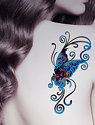 cheap -Fashion Large Temporary Tattoos Butterfly Sexy Body Art Waterproof Tattoo Stickers 2PCS  (Size: 5.71'' by 8.27'')