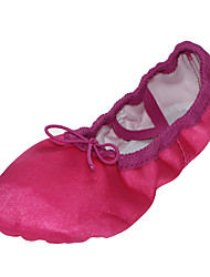 cheap -Ballet Shoes Silk Flat Flat Heel Non Customizable Dance Shoes Fuchsia / Green / Blue / Indoor