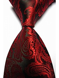 cheap -KissTies Men's Paisley Microfiber Tie Necktie With Gift Box (13 Colors Available)