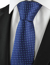 KissTies Men's Tie Dark Blue Polka Dots Necktie With Gift Box Wedding/Business/Party/Cocktail/Casual