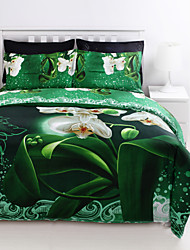 cheap -Duvet Cover Sets 3D Poly / Cotton Reactive Print 4 Piece
