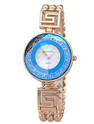 baratos -Mulheres Bracele Relógio Relógio Casual Lega Banda Fashion / Elegante Prata / Dourada