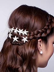 Недорогие -Горячее блюдо цветок волос u-shaped clamp starfish волосы зажим для волос diamond tiara 10pcs
