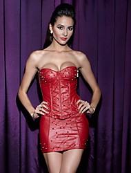 economico -Donna Completini con corsetto / Taglia forte / Sottobusto / Completo / Vestiti con corsetto Indumenti da notte,MedioNylon / Poliestere /