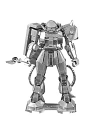 cheap -ZAKU Robot 3D Puzzles Jigsaw Puzzle Metal Puzzles Model Building Kit Machine Robot Metal Alloy Metal Gift