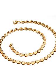 Feminino Gargantilhas Amor Moda Dourado Jóias Para Diário Casual 1peça