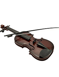 Plastic Brown Simulation Child Violin for Children Above 3 Musical Instruments Toy