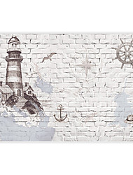 3D Shinny Leather Effect Large Mural Wallpaper Brick And Building Art Wall Decor Wall Paper