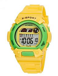 billige -SYNOKE Sportsur Armbåndsur Digital Watch Digital 30 m Vandafvisende Alarm Kalender Gummi Bånd Digital Vedhæng Blåt / Grøn / Pink - Grøn Blå Lys pink / Kronograf / Selvlysende / LCD