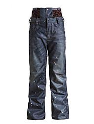 Gsou NEVE® abbigliamento da sci Pantalone/Sovrapantaloni Per uomo l'usura di inverno Tessuto sintetico Jeans Abbigliamento invernale