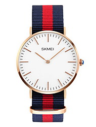 SKMEI Men's Fashion Watch Water Resistant / Water Proof Casual Watch Quartz Japanese Quartz Fabric Band Multi-Colored