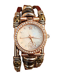 Недорогие -Женские Часы-браслет Кварцевый Японский кварц Повседневные часы Кожа Группа Винтаж Белый Коричневый марка